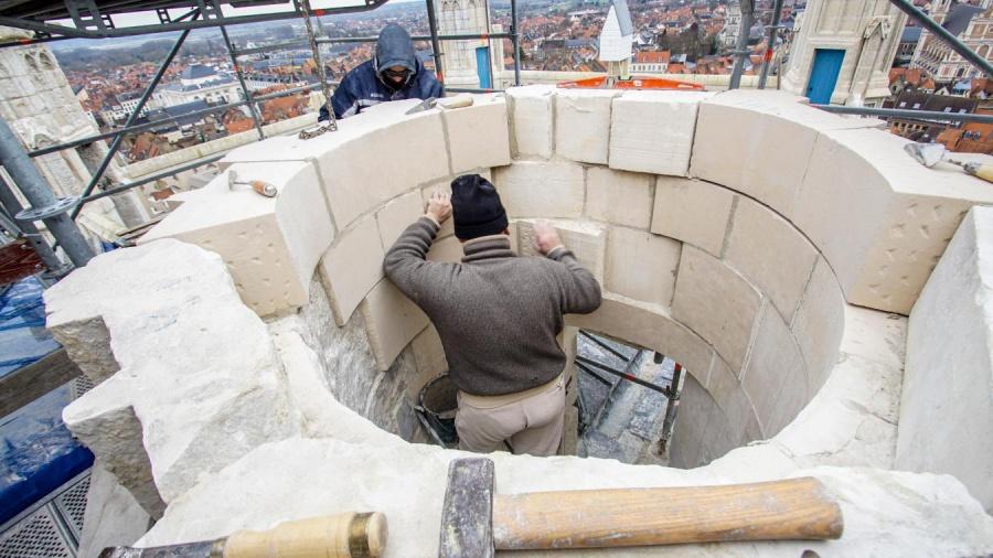 Encore une vingtaine de jours avant la fin des travaux de la tourelle Saint-Omer
