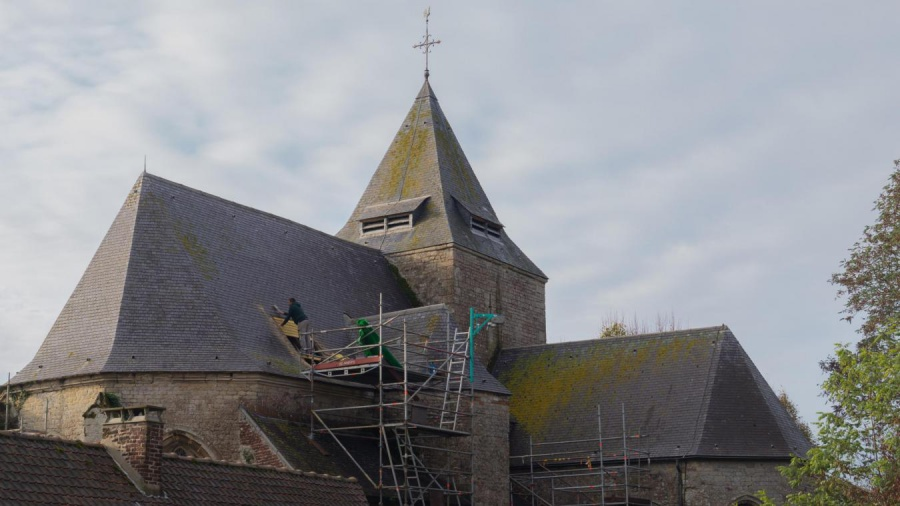 Leglise Saint-Martin poursuit sa renovation Retry-FR