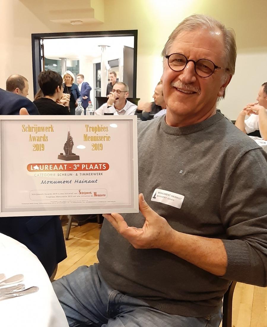 Monument Hainaut laureaat bij Schrijnwerk Awards 2019