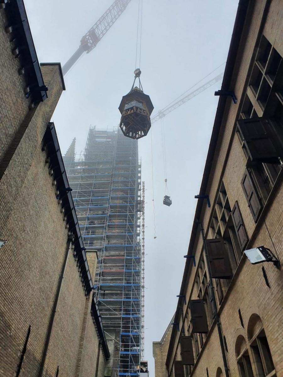 Video Torenspits en lantaarn afgenomen van Belfort Ieper